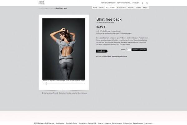 Khatera Webshop portfolio Portfolio Khatera 600x400