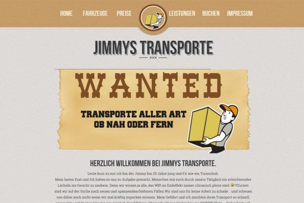 Jimmys Transporte portfolio Portfolio jimmy 600x400