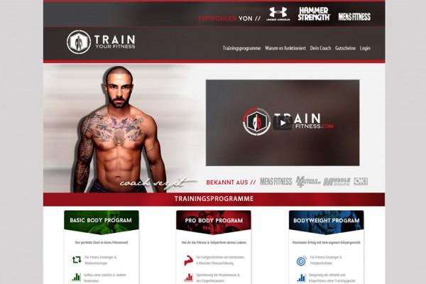 TrainYourFitness portfolio Portfolio trainyourfitness 600x400
