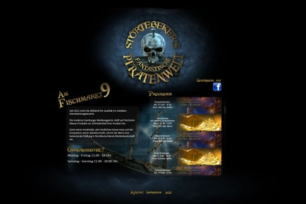 Homepagedesign Piratenwelt portfolio Portfolio Homepage2 600x400