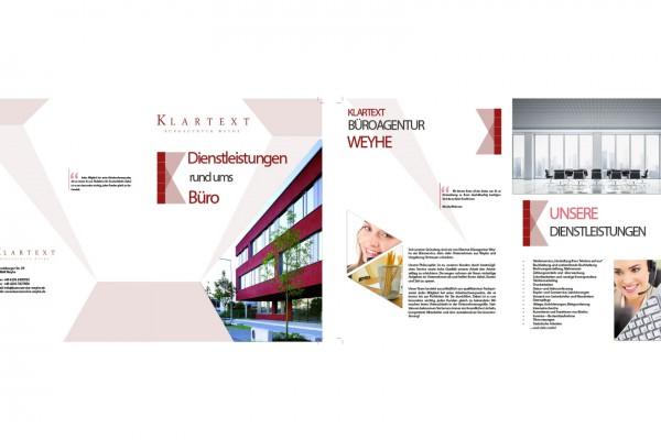 Klartextbüro Weyhe – Broschüre portfolio Portfolio broschure weyhe 600x400