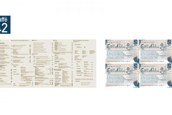 Caffe 42 Außenkarte, Aufkleber & Flyer portfolio Portfolio caffe42aufkleberkarteflyer 600x400