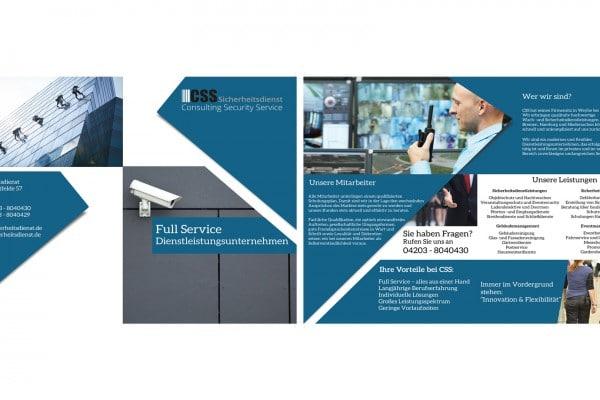 CSS Sicherheitsdienst Broschüre portfolio Portfolio csssicherheitsdienstbroschuere 600x400