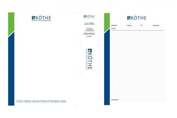 Köthe Briefpapier, Visitenkarten, Block portfolio Portfolio koethebriefpapier 600x400