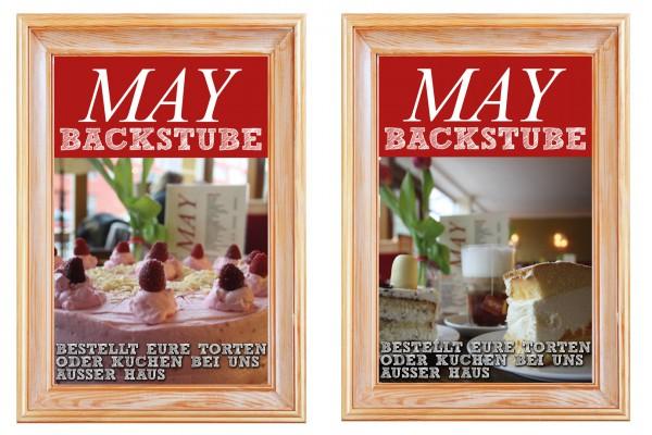 Kuchenplakate für Cafe May portfolio Portfolio kuchencafemayplakat 600x400