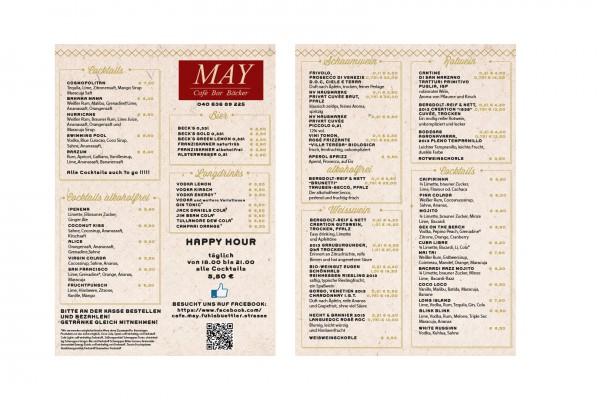 Getränkekarte des Cafe May 2015 portfolio Portfolio speisekartecafemay2015 600x400