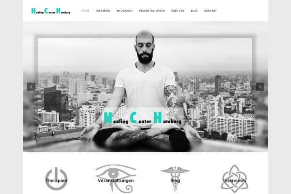 Healing Center Hamburg – Homepage portfolio Portfolio hch 600x400