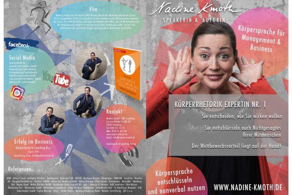 Nadine Kmoth – Broschüre medienagentur Home – Elbfabrik Medienagentur nadine front 600x400