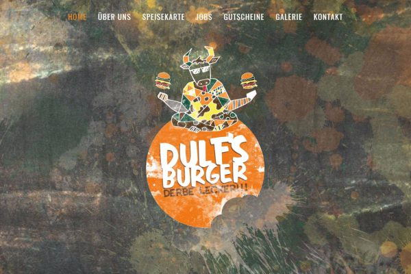 Dulf's Burger – Homepage medienagentur Home – Elbfabrik Medienagentur dulf hp 1 600x400