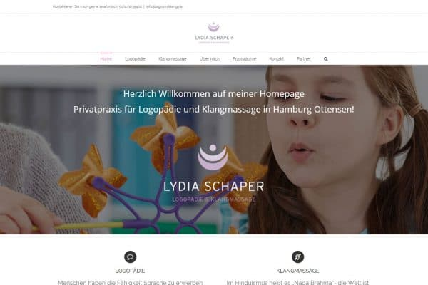 Logo und Klang – Homepage portfolio Portfolio lydia 600x400