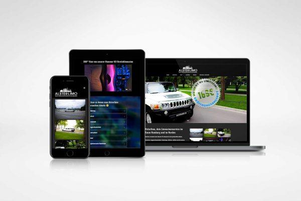 Alsterlimo – CI & Homepage medienagentur Home – Elbfabrik Medienagentur alsterlimo 600x400