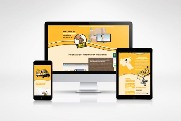 Jimmys Transporte – Webseite medienagentur Home – Elbfabrik Medienagentur portfolio jimmys transporte 600x400